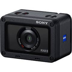 "Sony RX0 MK 2 / MK II angled - 1"" sensor waterproof action camera for professional content creation and vlogging for the filmmaker on the go."