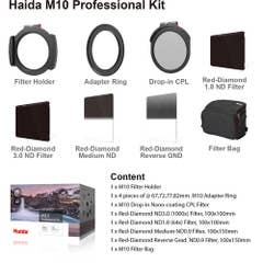 Haida M10 Filter PROFESSIONAL Kit -1 CPL 4 RD Filters 4 Adap M10 Holder and Pouch