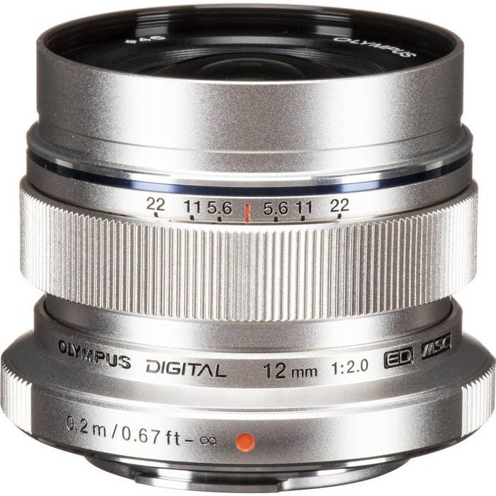 Olympus 12mm f/2.0 Lens - Silver