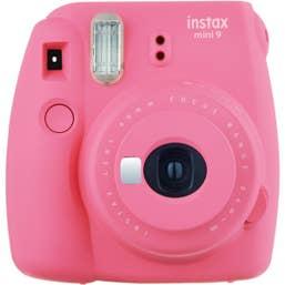 Fuji Instax Mini 9 - Flamingo Pink Bundle Kit incl Film wallet etc