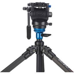 Benro A48FDS4 Series 4 Alum Monopod w. 3-Leg Locking Base and S4 Video Head