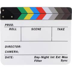"""ClapBoard - Colour 11""""x9"""" Dry-Erase Writing Surface"""