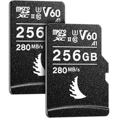 ANGELBird AV PRO microSD 256 GB V60 | 2 PACK with SD Adapter