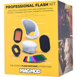 MagMod Professional Flash Kit  includes  MagGrip + MagSphere + MagGrid + MagBounce + Gel Holder + Creative Gels