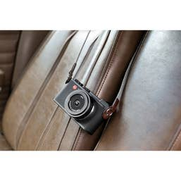 Leica Lifestyle Leather and Fabric Neck Strap (Gray)