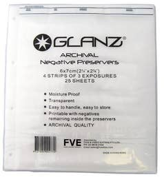 Glanz 35mm Negative Sheets - pack of 25