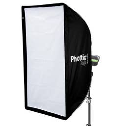 Phottix Softbox QuickFold RAJA 60x90cm Baffle Diff Grid Bowen S Mount