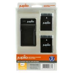 Jupio Nikon EN-EL14A Twin Battery + Charger Kit