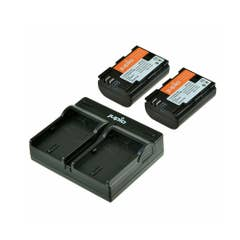 Jupio Duo KIT for Canon includes 2x Battery LP-E6 + USB Single Charger Kit