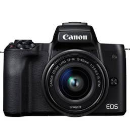 Canon EOS M50 mirrorless camera with EF-M 15-45mm f/3.5-6.3 IS STM Lens