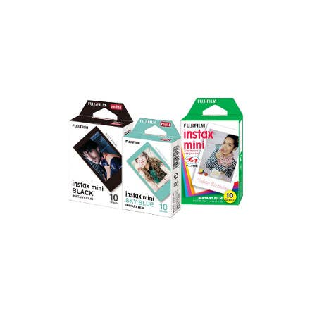 FujiFilm Specialty Film 30 Pack (One Pack of Black, Sky Blue and White Frames)