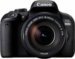 Canon EOS 800D Body and EF-S 18-135mm f/3.5-5.6 IS STM Lens
