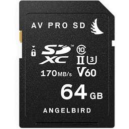 Angelbird 64GB AV Pro UHS-II SDXC V60 Memory Card