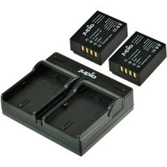 Jupio Fuji NP-W126S Twin Battery + Charger Kit