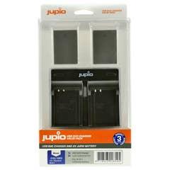 Jupio Olympus BLN-1 Twin Battery + Charger Kit