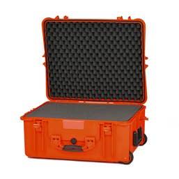 HPRC 2700W Wheeled Hard Case with Cubed Foam (Orange)