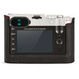 Leica Q (Typ 116) Camera Protector -  Leather Black with Red Hand Stitch