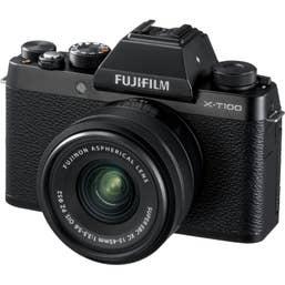 Fujifilm X-T100 Mirrorless Digital Camera with 15-45mm XC Lens (Black)