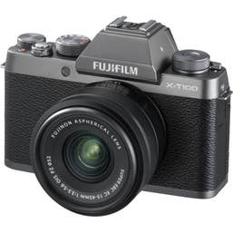 Fujifilm X-T100 Mirrorless Digital Camera with 15-45mm XC Lens (Silver) Red Hot Price ! Stocks limited.
