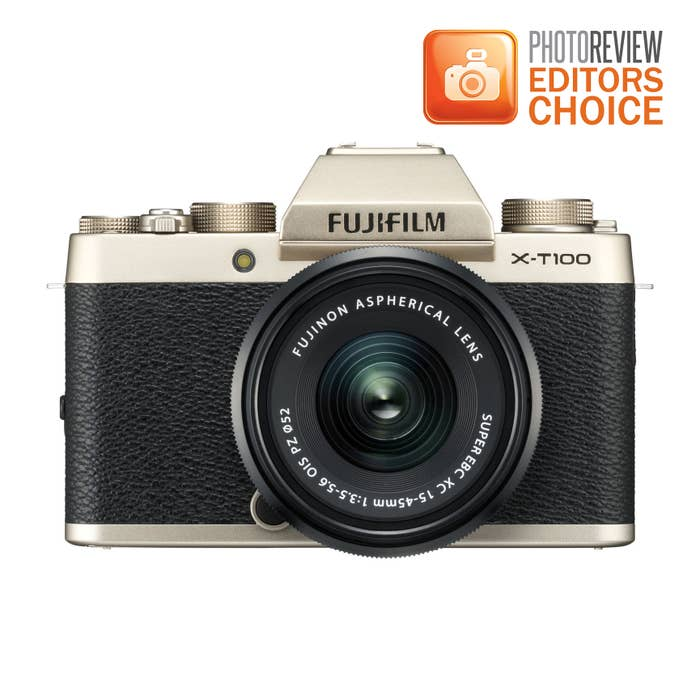 Fujifilm X-T100 Mirrorless Digital Camera with 15-45mm XC Lens (Champagne) - Red Hot Price ! Stocks limited.