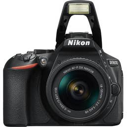 Nikon D5600 DSLR Camera with AF- P 18-55 VR and AF-P 70-300mm VR Lens
