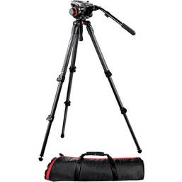 Manfrotto 504HD Head with 535 2-Stage Carbon Fiber Tripod System