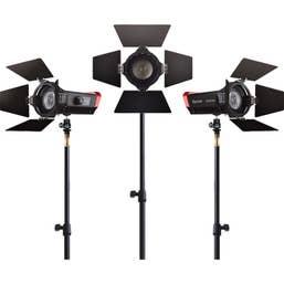 Aputure LS-mini20 Daylight/Bi-Color 3-Light Flight Kit with Stands