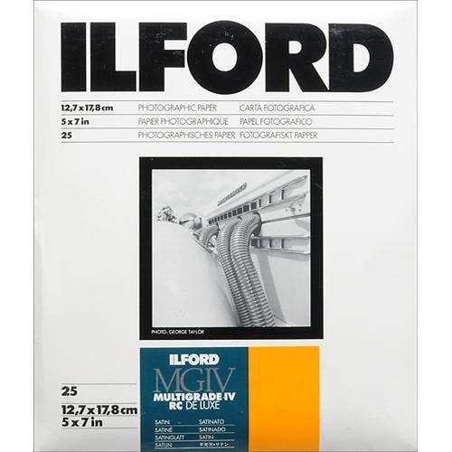 Ilford Multigrade IV RC Deluxe 25M Satin 12.7x17.8cm 25 Sheets MGaRC25M