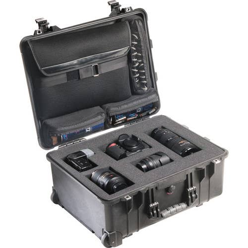 Pelican 1560LFB Case with Foam in Base (Black)