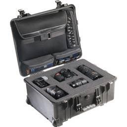 Pelican 1560LFB Case with Foam in Base (Black)