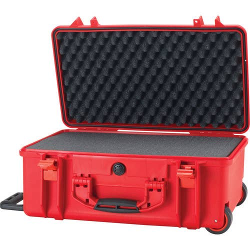 HPRC 2550W - Wheeled Hard Case with Cubed Foam (Red)