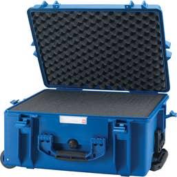 HPRC 2600W - Wheeled Hard Case with Foam - Electric Blue