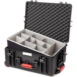 HPRC 2600W - Wheeled Hard Case with Second Skin Divider (Black)