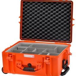 HPRC 2600W - Wheeled Hard Case with Second Skin Divider (Orange)