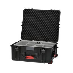 HPRC 2700W - Hard Case with Wheels & Second Skin Divider (Black)
