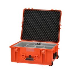 HPRC 2700W - Hard Case with Wheels & Second Skin Divider (Orange)