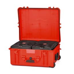 HPRC 2700W - Hard Case with Wheels & Second Skin Divider (Red)