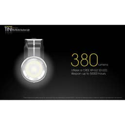 Nitecore 380 Lumen - TINI Black Torch