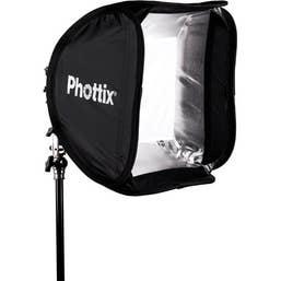 Phottix Transfolder Softbox 40 x 40 cm with Cerberus Multi Mount Holder Kit