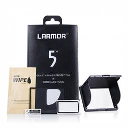 Larmor Gen 5 Screen & Hood Glass LCD Protector for FujiFilm X-T1/X-T2/X-A1/X-A3