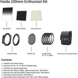 Haida Enthusiast Filter Kit 100PRO - 3 Nano Filters, 4 Adaptors,  100PRO Holder and Pouch
