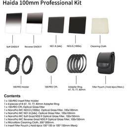 Haida  Professional Filter Kit 100PRO - 5 Nano Filters, 4 Adaptors