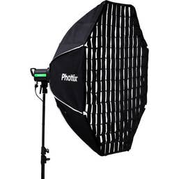 Phottix Solas 122cm Octagon Softbox with White Diffuser & Honeycomb Grid