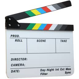 ClapBoard Colour Dot-Line PRO Magnetic Lock Sticks 11x9 Size