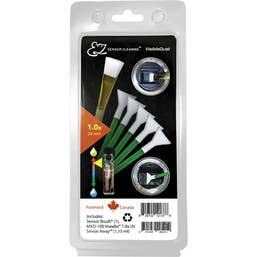 VisibleDust EZ Sensor Cleaning Kit PLUS with Smear Away, 5 Green 1.0x Vswabs and Sensor Brush
