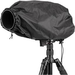 "Ruggard Fabric Rain Cover 17"" Medium for Lens up to 17"" Long"
