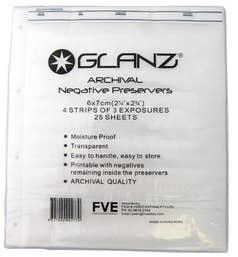 GLANZ 120MM (6X6)  Negative Sheets (Pack of 25)
