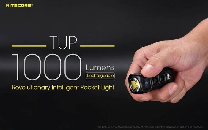 NITECORE TUP BLACK 1000 LUMENS Rechargeable Key Ring Torch