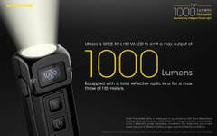 NITECORE TUP BLACK 1000 LUMENS Rechargeable Key Ring Torch