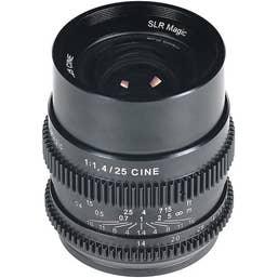 SLR Magic Cinema Lens 25mm F/1.4 E Mount
